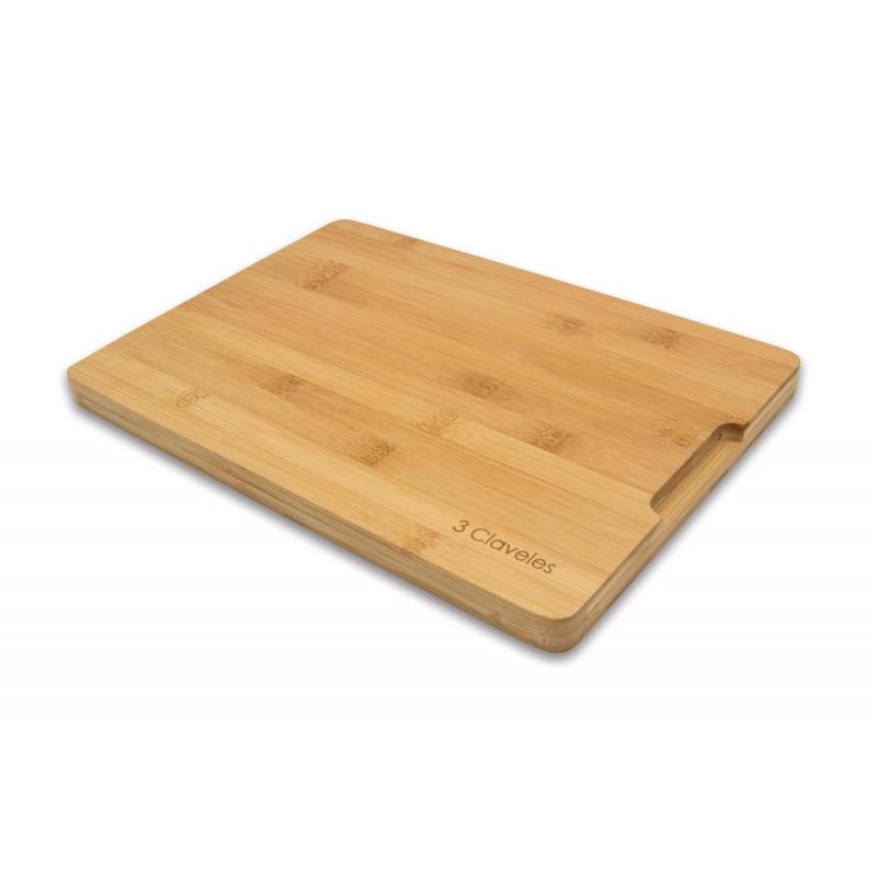3 CLAVELES TABLA DE CORTE BAMBU 04665