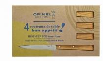 Opinel Mesa Bon Appetit Pop (4 Unidades) - Olivo