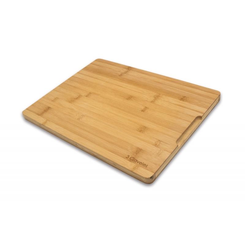 3 CLAVELES TABLA DE CORTE BAMBU 04666