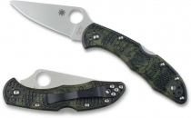 SPYDERCO ENDURA ZOME FLAT GROUND GREEN VG10 C10ZFPGR